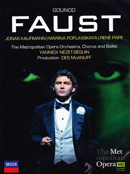 Cover of the Faust DVD, recorded at the Metropolitan Opera.