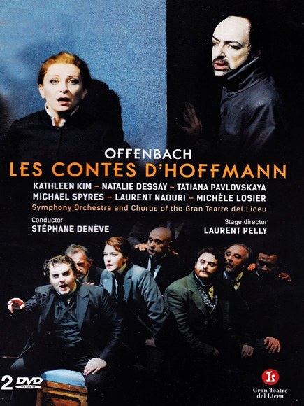 Cover for the DVD Les Contes d'Hoffmann recorded at the Gran Teatre del Liceu.